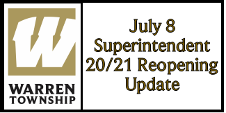 July 8 Superintendent 20/21 Reopening Update