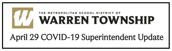 April 29th COVID-19 Superintendent Update