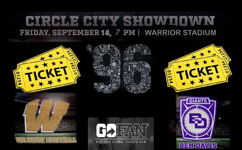 Purchase Tickets for Friday's Varsity Football's Circle City Showdown !!