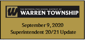 September 9, 2020 Superintendent 20/21 Update