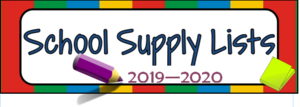 Supply Lists 2019-2020
