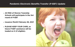 Pandemic Electronic Benefits Transfer (P-EBT) Update