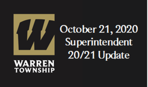October 21, 2020 Superintendent 20/21 Update