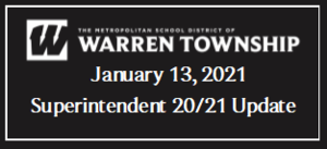 January 13, 2021 Superintendent 20/21 Update