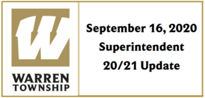 September 16, 2020 Superintendent 20/21 Update