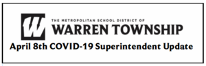 April 8th COVID-19 Superintendent Update