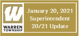 January 20, 2021 Superintendent 20/21 Update