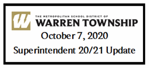 October 7, 2020 Superintendent 20/21 Update