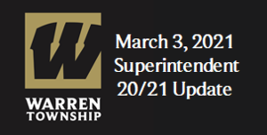 March 3, 2021 Superintendent 20/21 Update