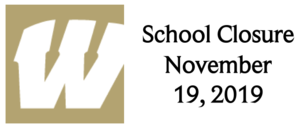 November 19, 2019 - School Closure