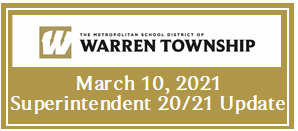 March 10, 2021 Superintendent 20/21 Update