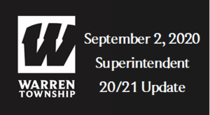 September 2, 2020 Superintendent 20/21 Update