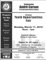 Youth Fair March 11, 2019
