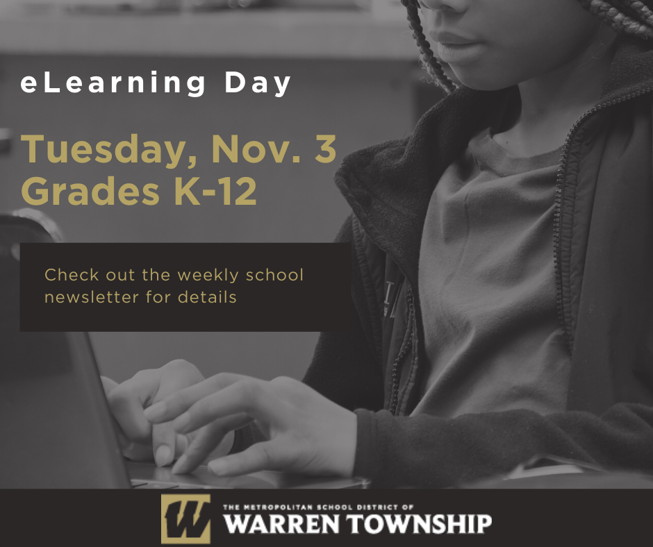 eLearning Day on Tuesday, Nov. 3 Grades K-12