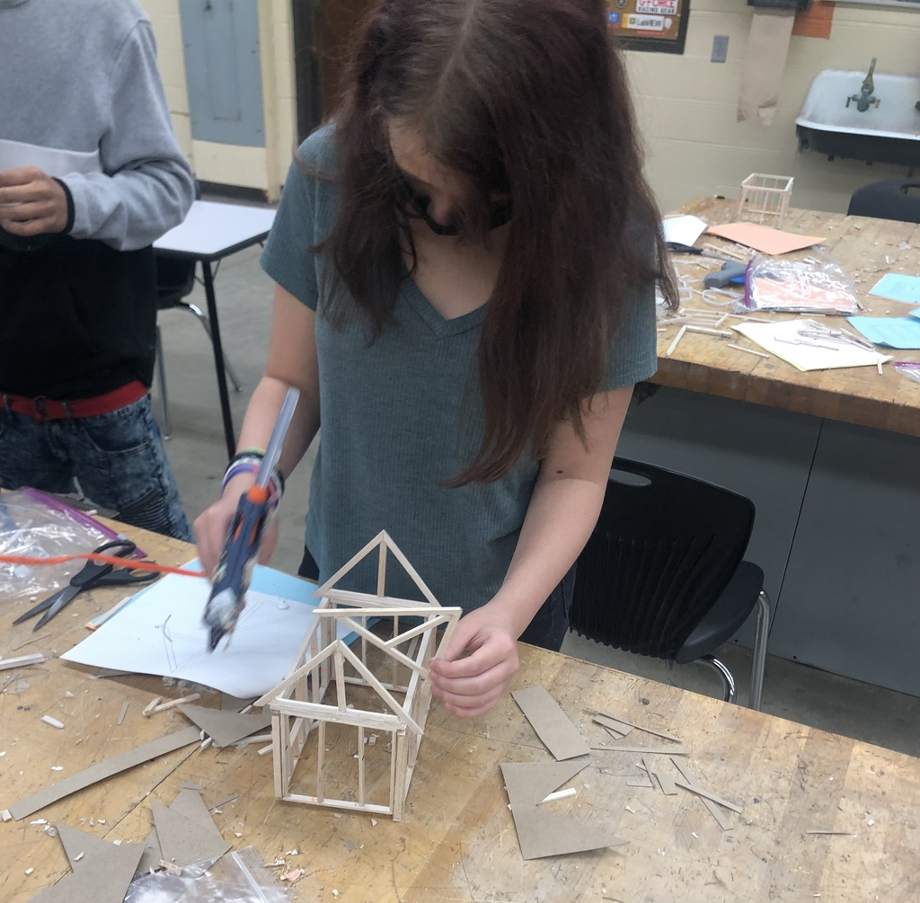 Student builds model home