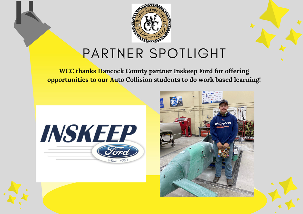 Inskeep Ford logo and Collision student