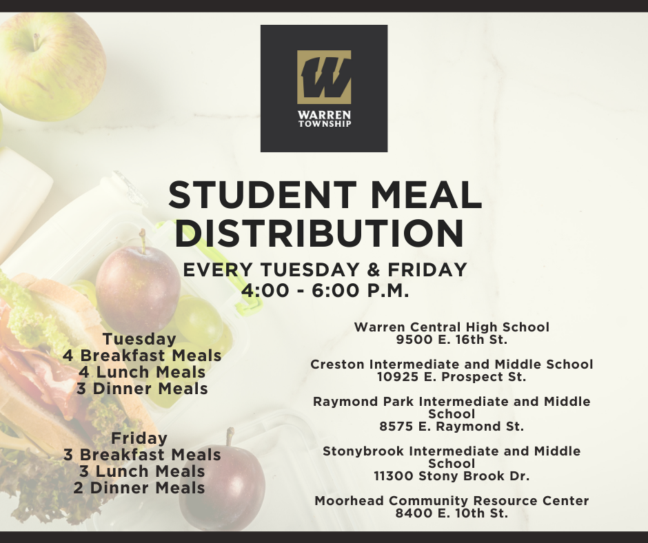 Student Meal Distribution Schedule 11.23.20