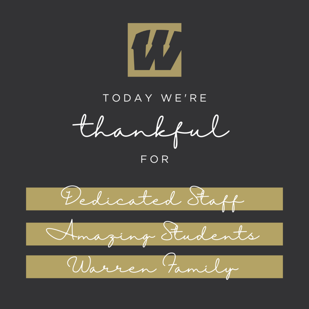 Today we're thankful for staff, students, community