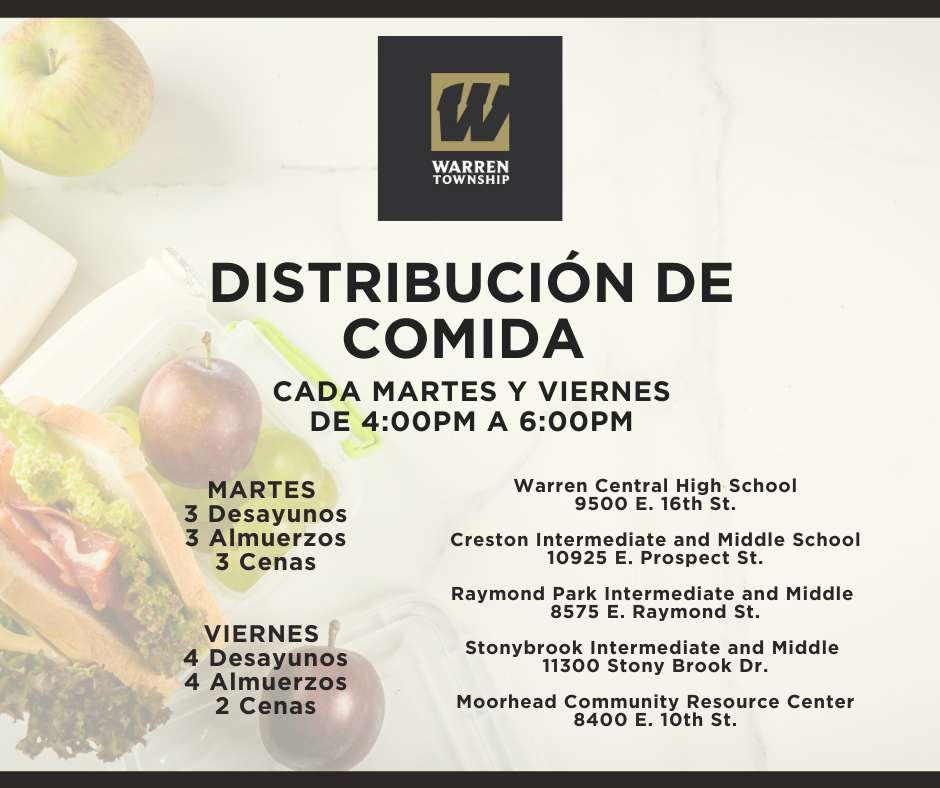 Student Meal Distribution Schedule 12.1.20