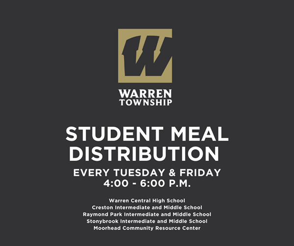 Student Meal Distribution Every Tuesday and Friday 4-6 p.m.