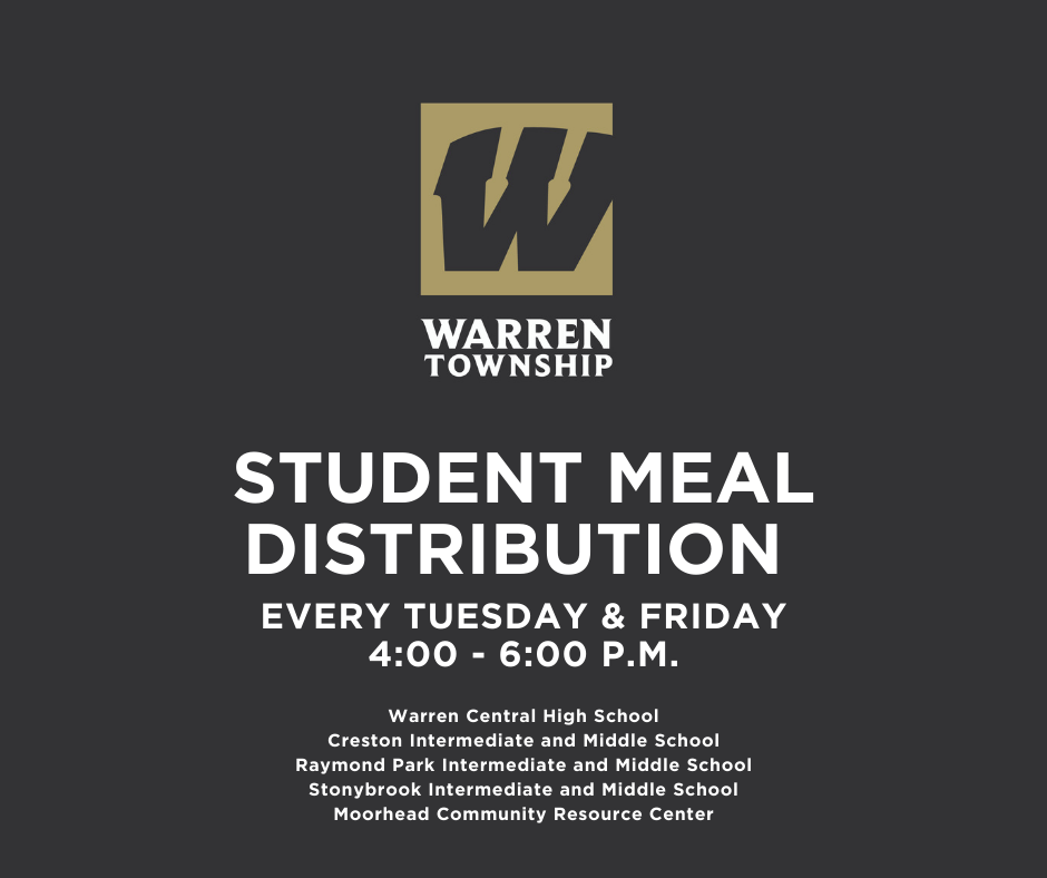 Student Meal Distribution Schedule 12.15.20