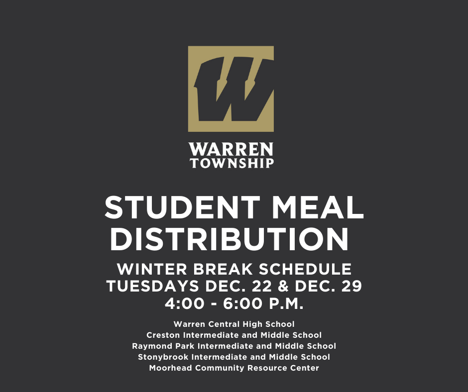 Student Meal Distribution Schedule 12.22.20