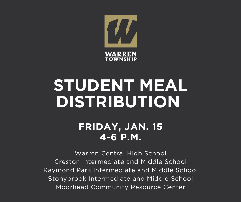 Student Meal Distribution Schedule 1.15.21