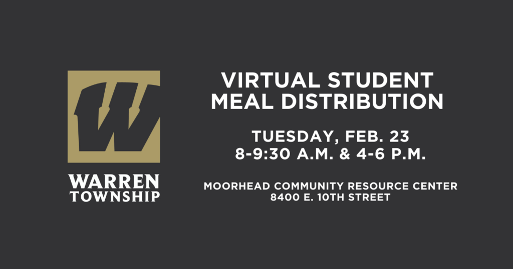 Student Meal Distribution Tuesday Feb 23 8-9:30 a.m. and 4-6 p.m. at Moorhead Community Resource Center