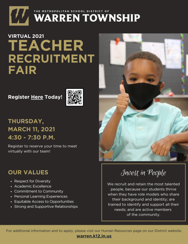 Virtual 2021 Teacher Recruitment Fair