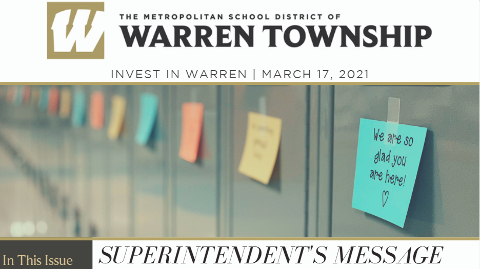 Invest in Warren March District Newsletter