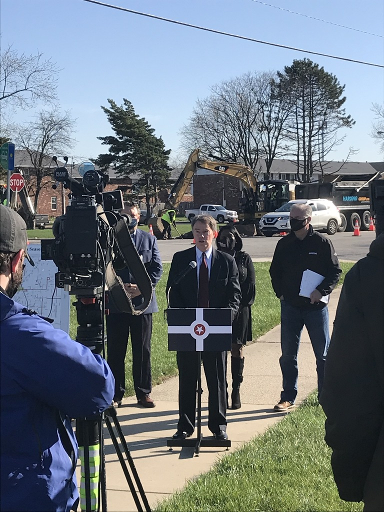 Mayor Joe Hogsett speaks at press conference to kickoff the 2021 construction season
