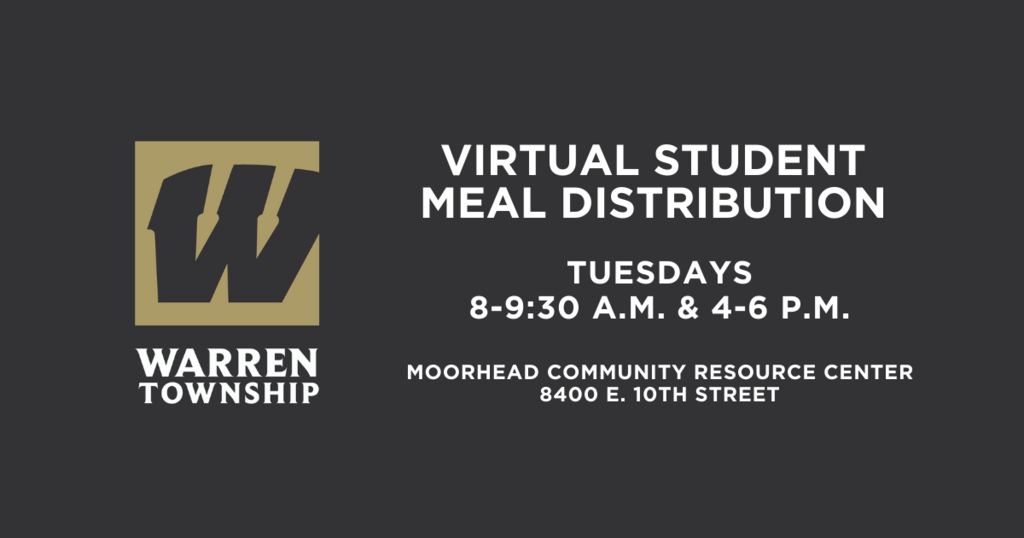 Virtual Student Meal Distribution Tuesday 9-9:30 a.m. & 4-6 p.m. at Moorhead Community Resource Center