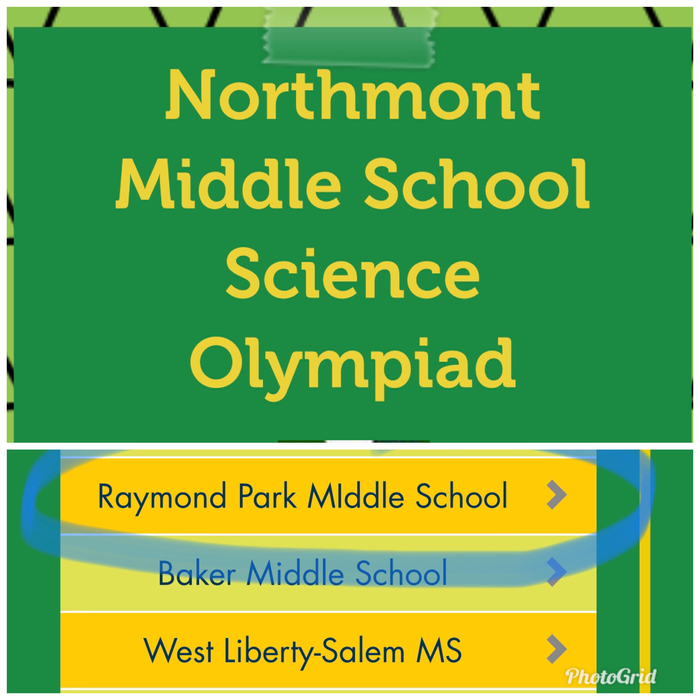 Northmont Middle School Science Olympiad
