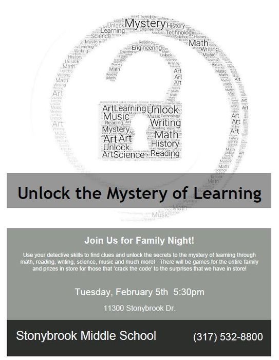 Family Night Informational Flyer
