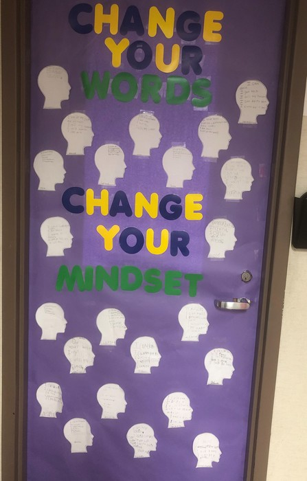 growth mindset door