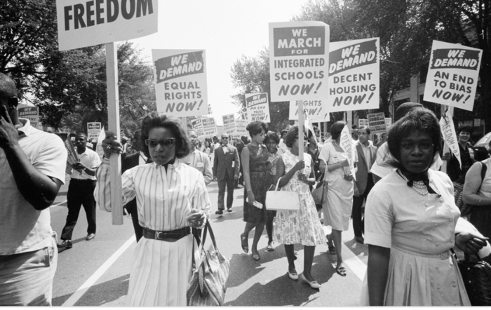 African-American March for equal rights