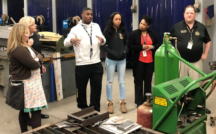 Student explains benefits of welding program.