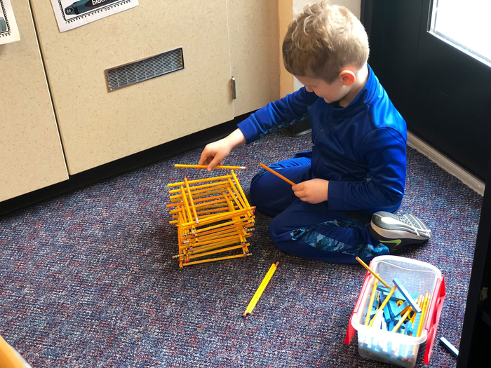 STEM bins in Kindergarten!
