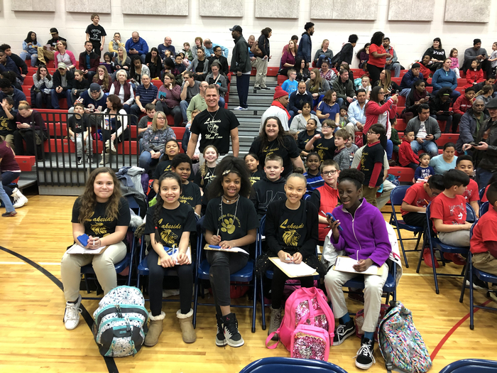 Lakeside math bowl students