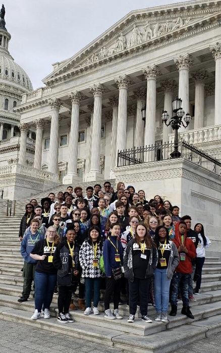 8th graders on the D.C. field trip.