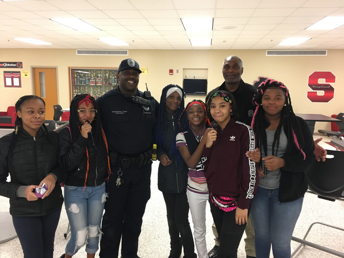 Students with officers