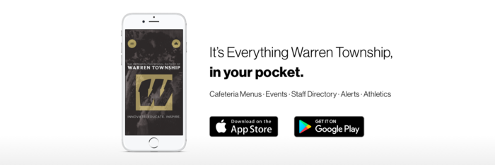 Warren App Advertisement Graphic