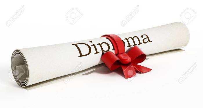Picture of diploma.