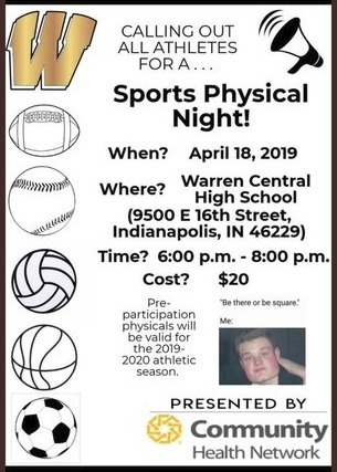 Sports Physical Information - 4/18/19