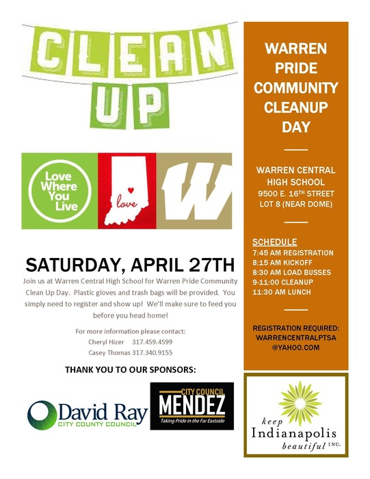 Warren Pride Clean Up Day Flyer