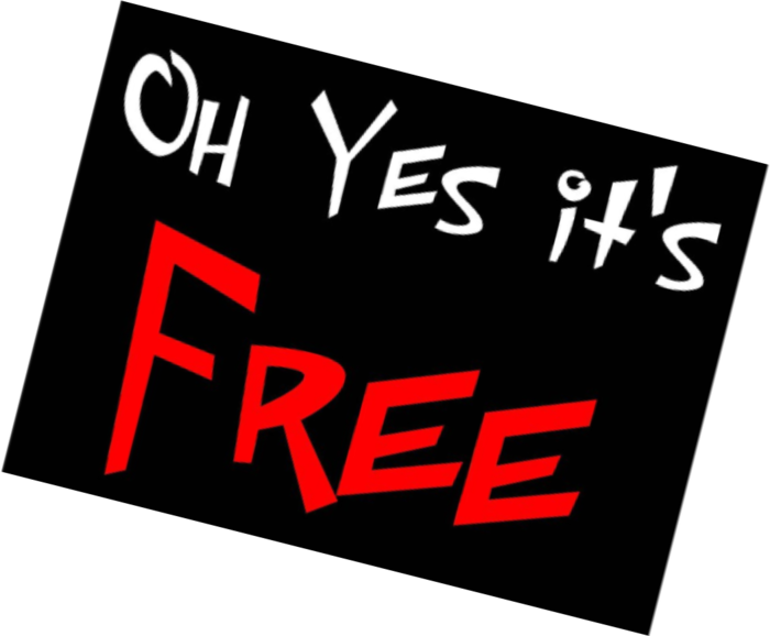 It's free sign