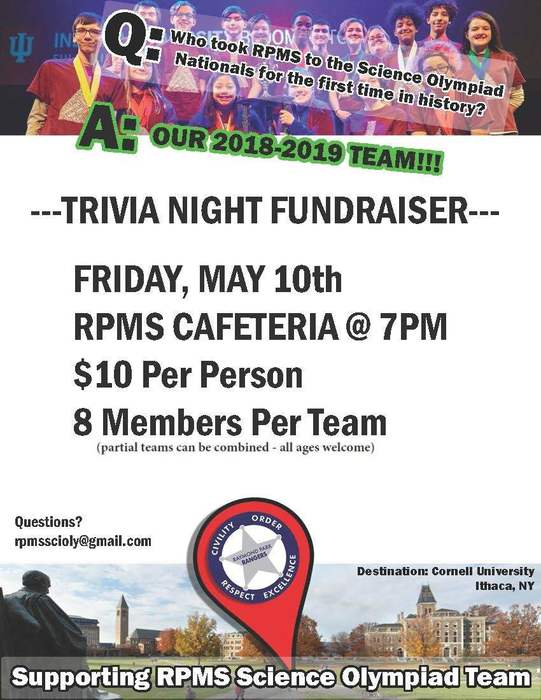 RPMS Science Olympiad Fundraiser Flyer