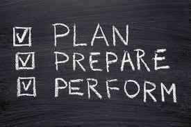 Plan, prepare,perform sign