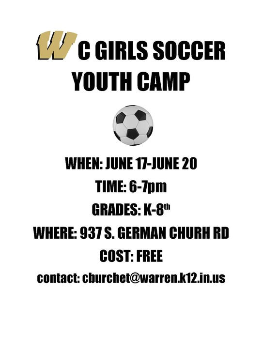Girls Soccer Youth Camp