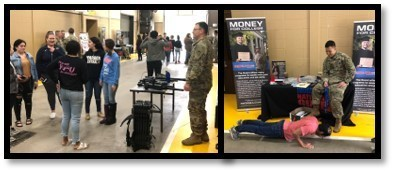 Students & teachers learn about benefits of being in the Indiana National Guard as they enjoy many of the activities  @WCHS_WCC  in Industrial Drive. #wccfollowyourpassion #WeAreTheKey